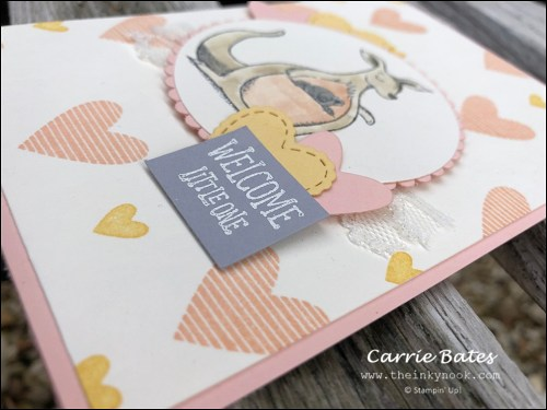 Animal Outing new baby card by Carrie Bates at The Inky Nook